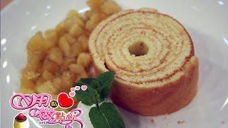用點心做點心-平底鍋年輪蛋糕 (香草鳳梨蘋果醬)