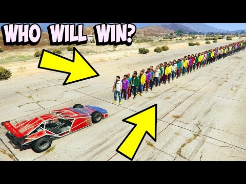 CAN A RAMP CAR FLIP 100+ PEOPLE IN GTA 5?