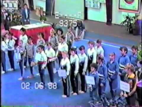 1988 - Gymnastics (Nicole, Kristina, Olivia, Michel, Tina)