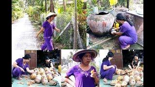 Vợ thằng Sang đi lột dừa khô mướn | Con Liễu tâm sự về Má chồng, chị chồng | Cuộc sống miền tây