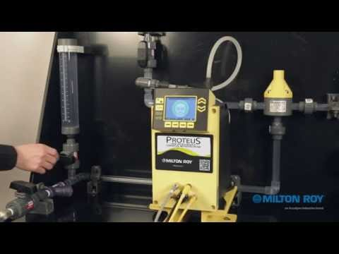 "PROTEUS Metering Pump:  ""How-to""  Calibrate to your Process"