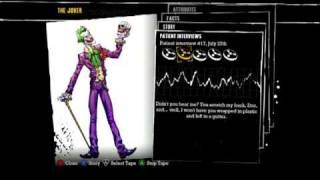 Batman: Arkham Asylum - Patient Interview Tapes - The Joker