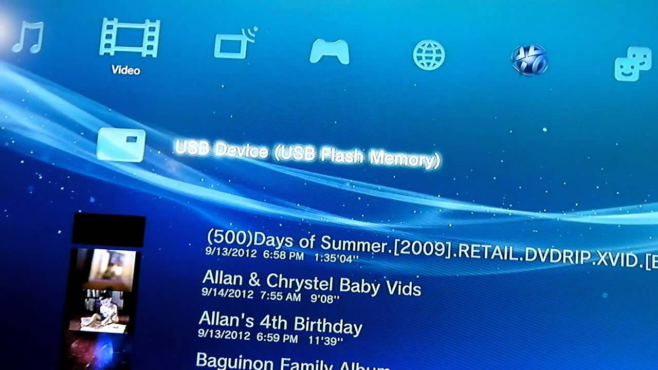 Transfer Or Play Videos On Your Ps3 Youtube
