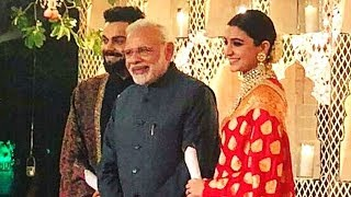 PM Narendra Modi At Virat Kohli Anushka Sharma's Wedding Reception Video LEAKED
