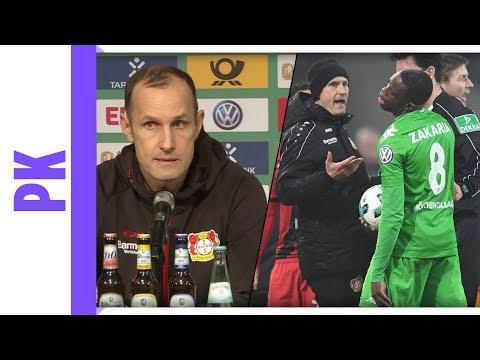 Heiko Herrlich über seine Schwalbe im DFB-Pokal - PK Bor. M'Gladbach - Bayer Leverkusen