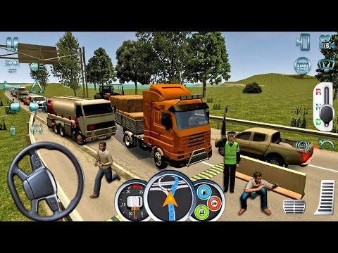 Euro Truck Driver 2018 #53 Hay Transport! Truck Games Android Gameplay
