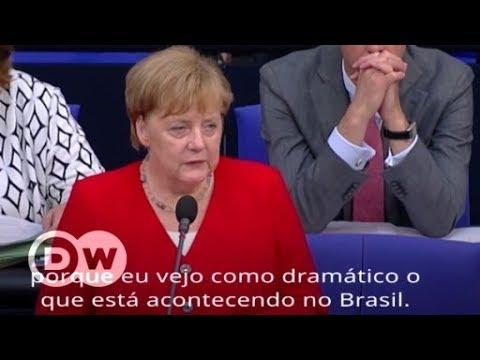 """Merkel sobre direitos humanos no governo Bolsonaro: """"Dramático"""""""