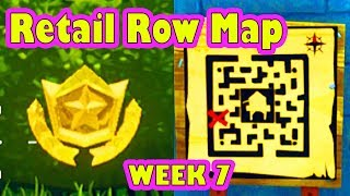 HOW to Complete the treasure map found in RETAIL ROW Challenge (Location Fortnite Battle Royale)