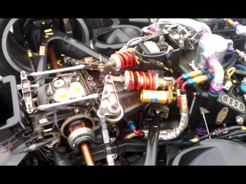 Audi R8 LMP warmup - close