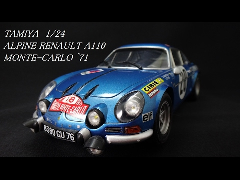 alpine renault a110 monte carlo 71 tamiya 1 24 youtube. Black Bedroom Furniture Sets. Home Design Ideas