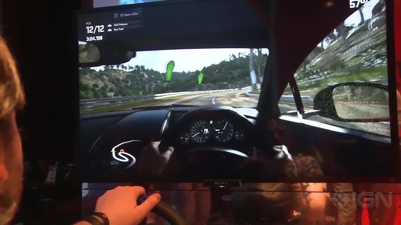 Driveclub (PS4): Racing Wheel Accessory Gameplay - E3 2014 - YouTube