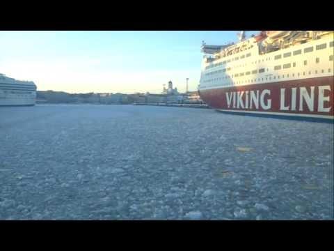 Travel in Winter Suomenlinna Helsinki by Boat