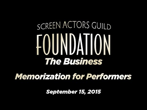 The Business: Memorization for Performers