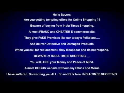 India times shopping - Fraud and Cheater Ecommerce Site
