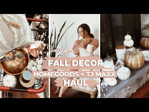 FALL HOME DECOR HAUL! SHOP WITH ME AT HOMEGOODS, TJ MAXX + TARGET