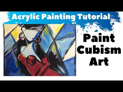 Cubism Art Tutorial For Beginners - Step By Step Painting