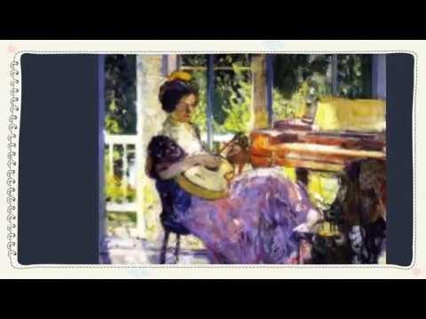 그림 과 음악이 만나면 ....Richard Edward Miller (1875 ~ 1943) .미국 인상주의화가