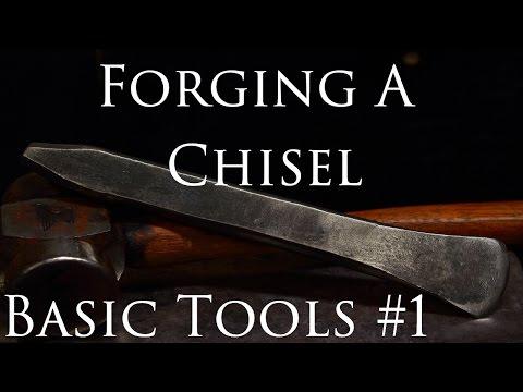 Blacksmithing Tools #1 Hand Forging A Hot Cut Chisel (EN9 Steel)
