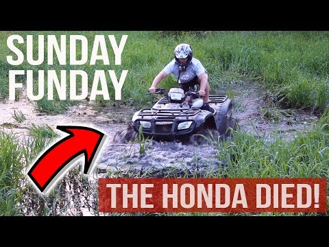 SUNDAY FUNDAY  ATV AND DIRT BIKE RIDING IN A MUDDY MESS + BUYING FISHING GEAR