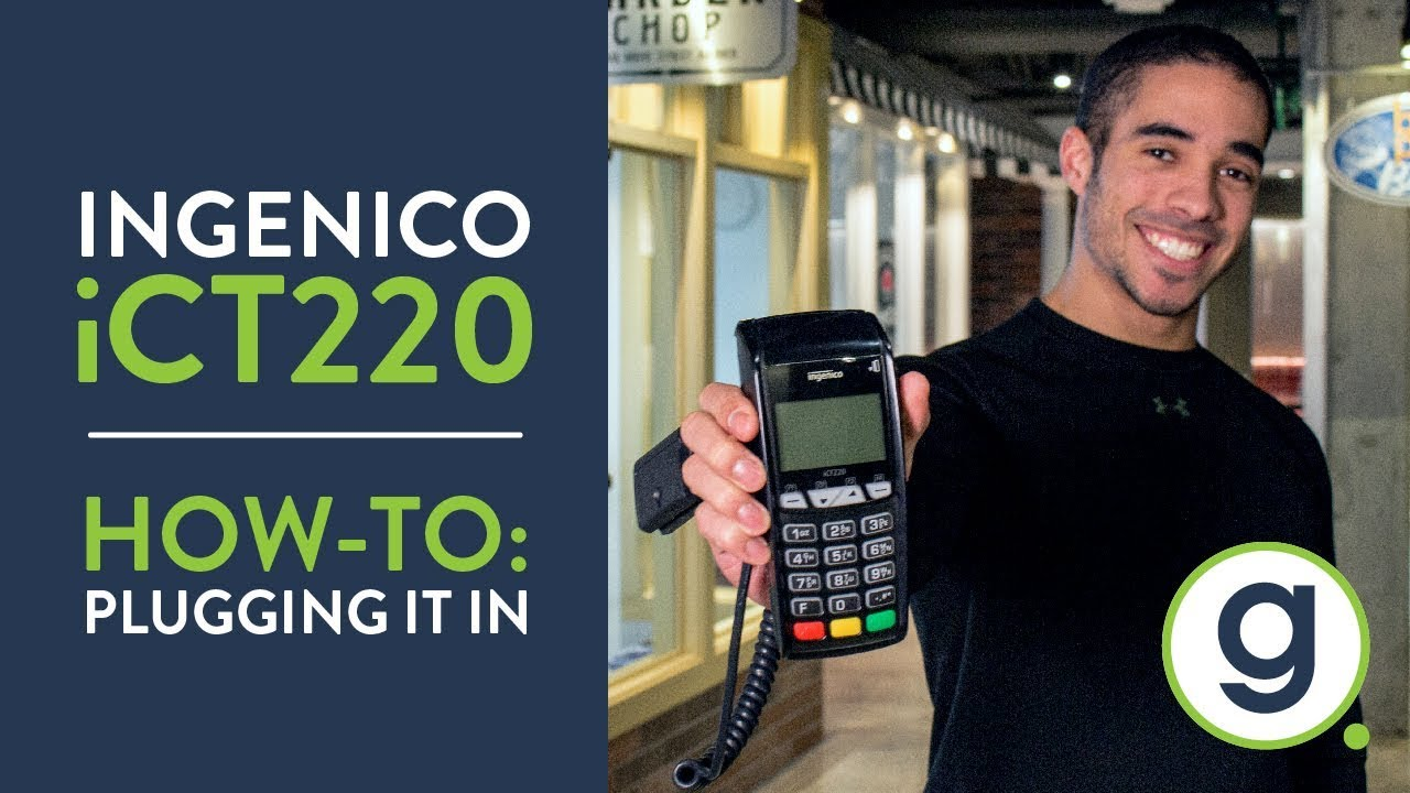How To Plug In a Pin Pad iCT220 Ingenico Credit Card Terminal | Gravity  Payments Support