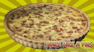 Black Forest Ham Onion Cheese Quiche Recipe