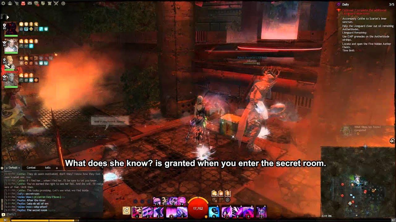 Guild Wars  Scarlet S Secret Room