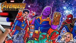 INSANE INFINITY WAR DRAWING!! | Copic Marker Illustration | Shrimpy