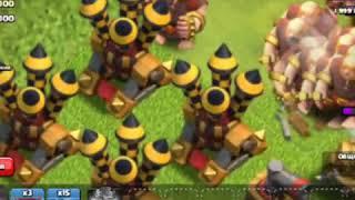 Clash of clans атака всеми юнитами на короля варваров Часть1
