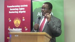 SAHRC Chairperson Bongani Majola opening the Police and Human Rights Dialogue