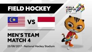 KL2017 29th SEA Games | Men's Field Hockey - MAS 🇲🇾 vs INA 🇮🇩 | 23/08/2017