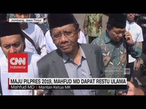 Maju Pilpres 2019, Mahfud MD Dapat Restu Ulama