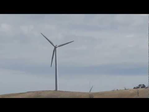 Windmills at the Challicum Hills Wind Farm