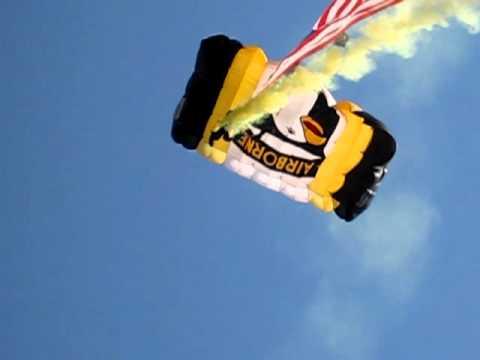 Michigan Stadium Parachute Drop 10/9/10