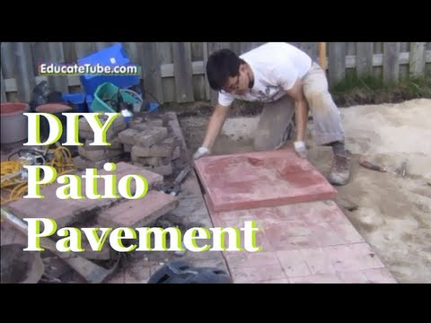 Diy backyard patio pavement a cool outdoor weekend project youtube solutioingenieria Image collections