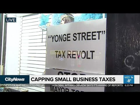 Toronto City Hall to look at capping taxes for small business