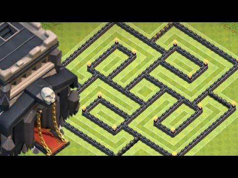 Townhall 9 Base 2018   Clash Of Clan Th9 Base Farming Anti 3 Star