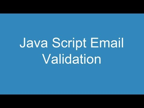 Java Script Email Validation thumbnail