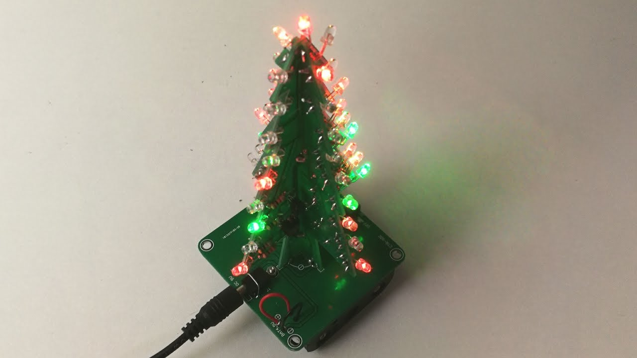 Diy D Xmas Tree Kit  Colors Flashing Led Icstation