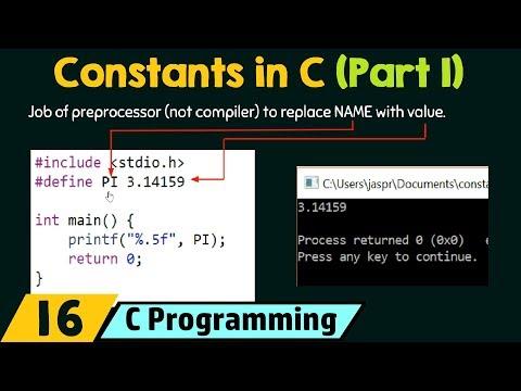 Constants in C (Part 1)