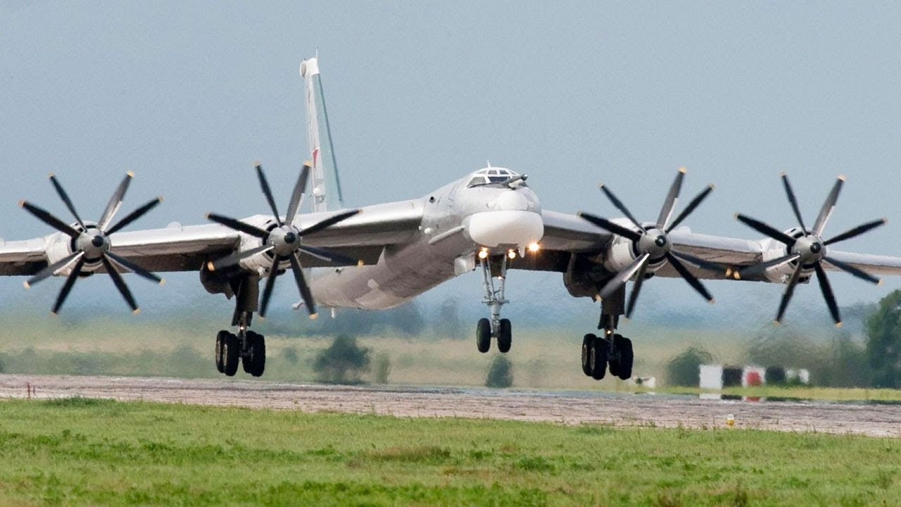 Tupolev Tu-95 (Ту-95) Take Off, Flight and Landing, Russian Air Force - YouTube
