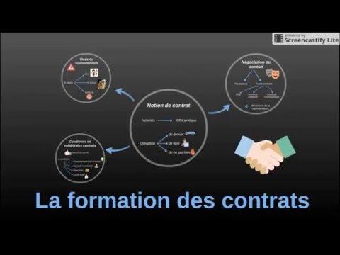 BTS Droit - Th3 Chap1 : La formation des contrats (Avant réforme 2016)