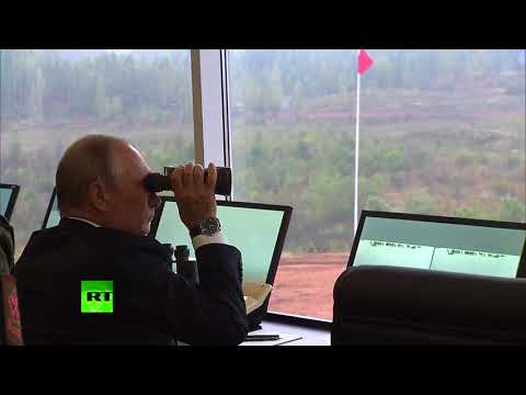 Путин проинспектировал ход учений «Запад-2017» на полигоне Лужский