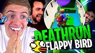 Michou et Doc Jazy me troll complètement sur ce Deathrun Flappy Bird sur Fortnite Créatif !
