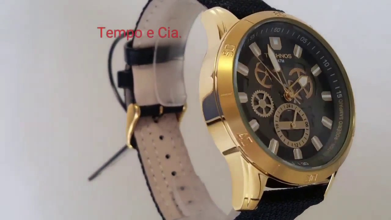 dc4e3b62ebc Relógio masculino Technos 6P79BB 8P Time de Heróis Rogério Sampaio Judô