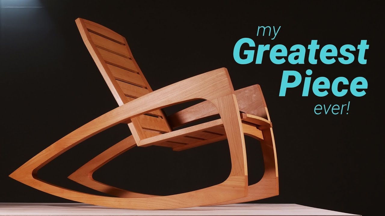 How To Build A Modern Rocking Chair Woodworking Youtube