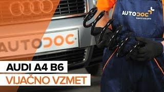 Kako zamenjati vijačno vzmet na AUDI A4 B6 [VODIČ]