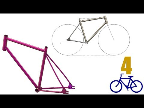 SolidWorks Tutorial #unlisted : Bike Frame & Layout (weldments, editing weldments profiles)