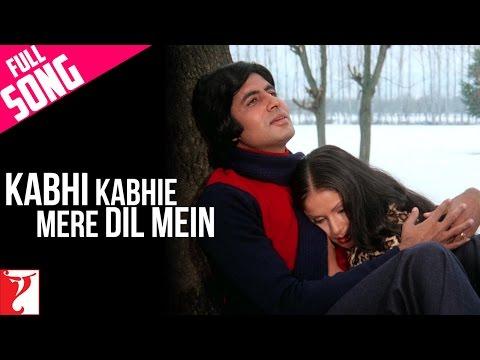 Kabhi Kabhie Mere Dil Mein (Male) - Full Song | Kabhi Kabhie | Amitabh Bachchan | Rakhee
