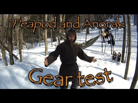 GEAR TEST Hammock Peapod (Canadian Army sleeping bag) and DIY Anorak (Wool blanket) & GEAR TEST: Hammock Peapod (Canadian Army sleeping bag) and DIY ...