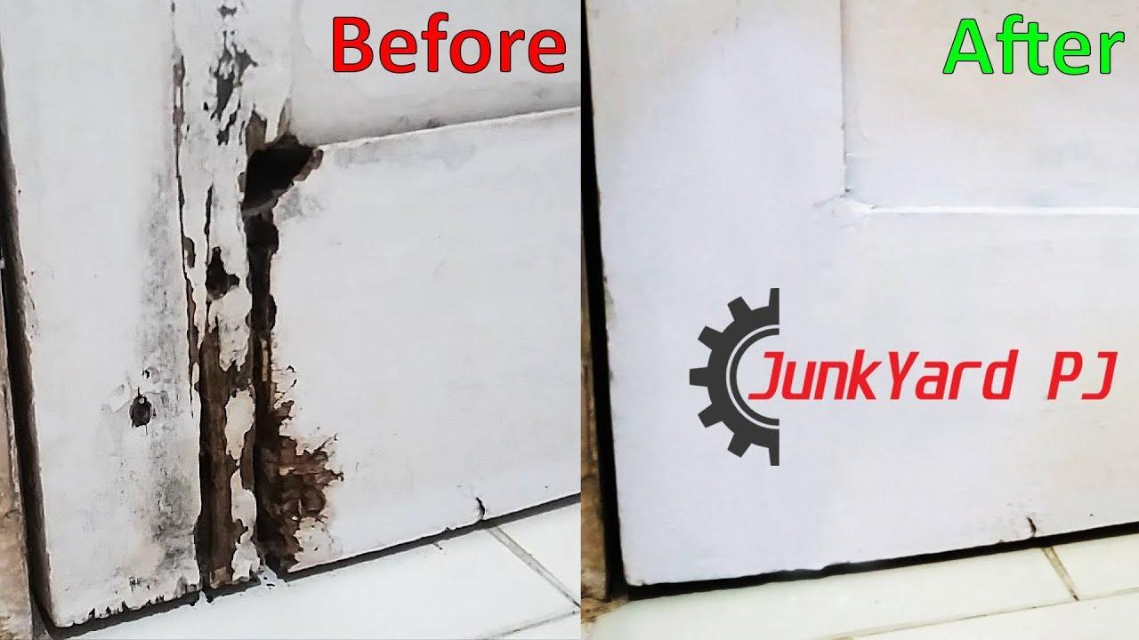 Simple way to repair a water damaged wooden door youtube - Refinishing damaged wood exterior doors ...